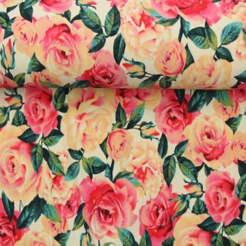Lycra - Pink roses