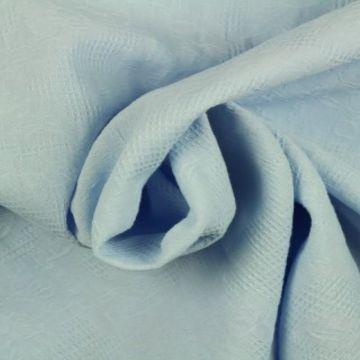 KATOEN JACQUARD Lavendel Blauw