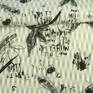Katoenen Tricot - Flowers and Art