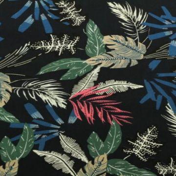 tropische bladeren donker blauw