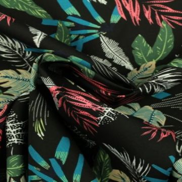 tropische bladeren zwart