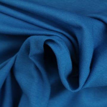 katoenen tricot blauw