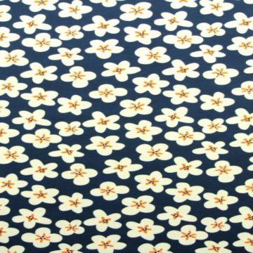 bloemen print katoenen tricot zomer