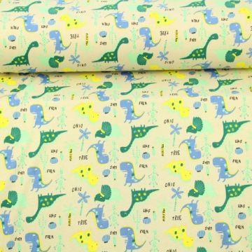 dinosaurus katoenen tricot print