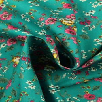 bloemen zee in turquoise