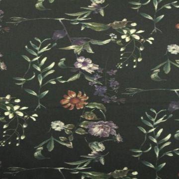 Stretch Katoen - Night Shade Flowers