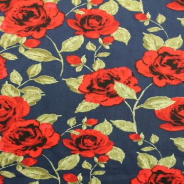 Red Roses on Blue