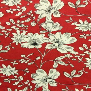 White Flowers on Raspberry