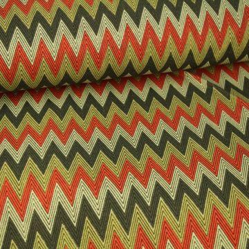 Zigzag - Coral/Beige/Grey