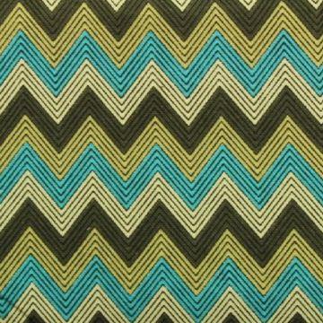 Zigzag - Aqua/Beige/Brown