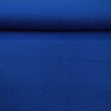 brushed wool kobalt blauw