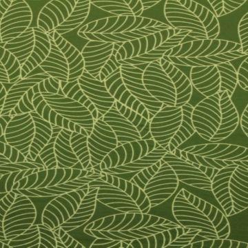 Katoenen Tricot - Autumn Leaves Green