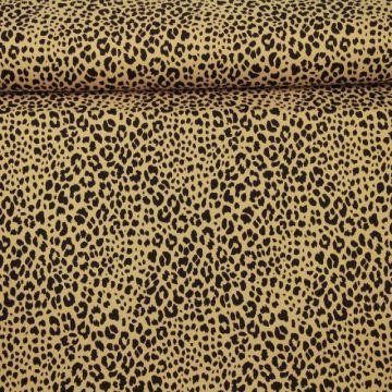 Katoenen Tricot - Cheetah Spots Beige