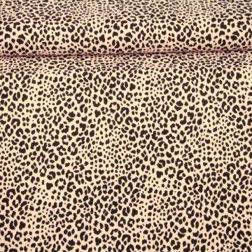 Katoenen Tricot - Cheetah Spots Light Pink