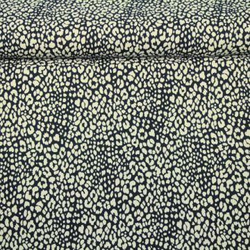 Katoenen Tricot - Cheetah Spots Dark Navy