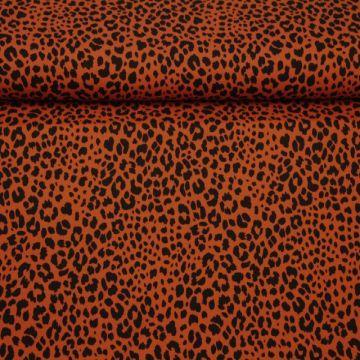 Katoenen Tricot - Cheetah Spots Rusty