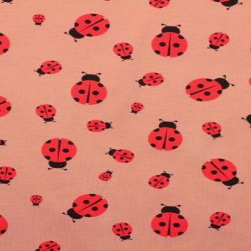 Katoenen Tricot - Ladybug Old Pink