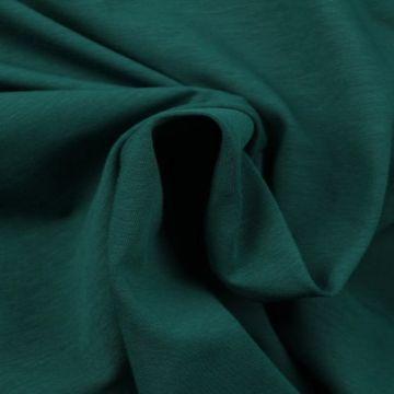 Zomerse Katoenen Tricot - Midnight Petrol Green