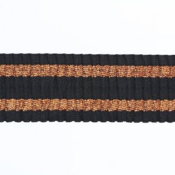 Elastiek - Bronze Lurex Stripes