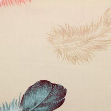 katoen met veren roze