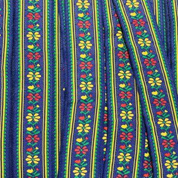 Geweven Sierband - Blue Flowers
