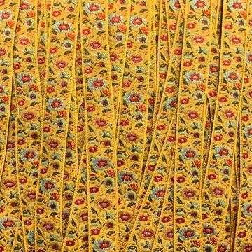 Geweven Sierband - Golden Flowers