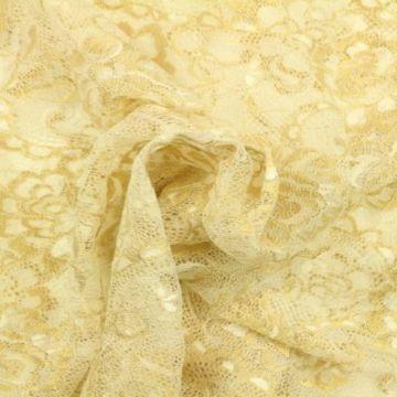 wit met goud kant