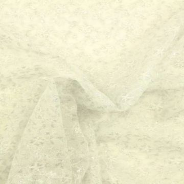 zilver kant met bloemen