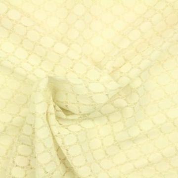 kant met rondjes crème goud