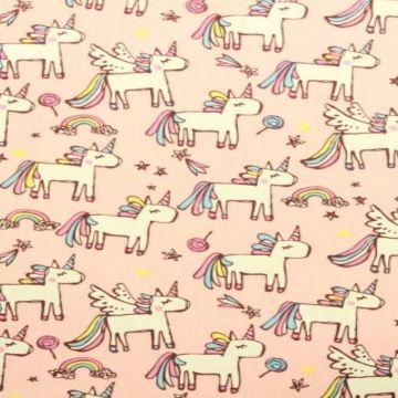 unicorn rainbow katoenen stof
