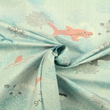 haaien katoenen print