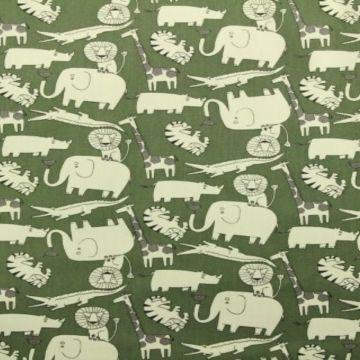 afrikaanse dieren katoenen print