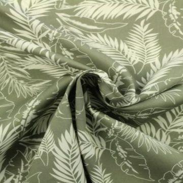 tropische planten katoenen print