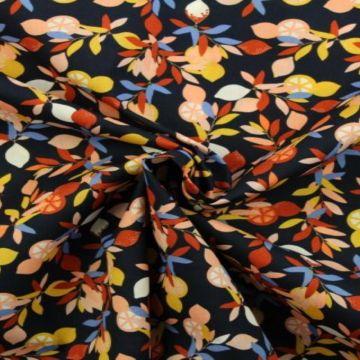citrus vruchten katoenen print
