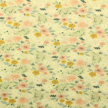 bloemen vanille katoenen print