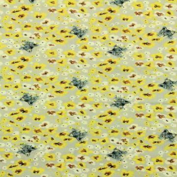 katten en bloemen katoenen print