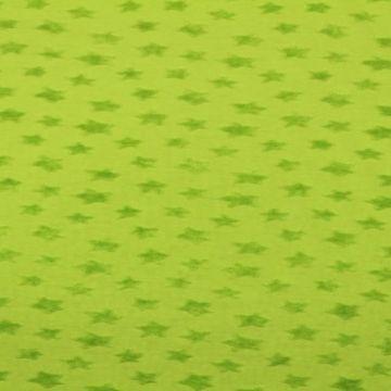 katoenen tricot met badstof sterren