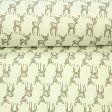 jogging met herten in het taupe