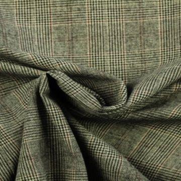pantalon stof ruit bordeaux grijs