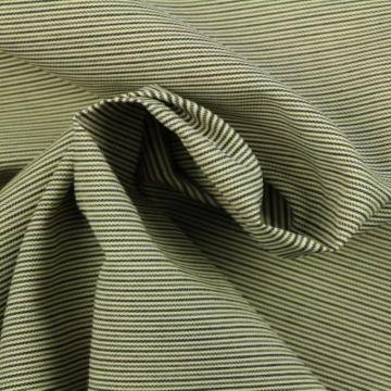 pantalon stof zwart/beige/blauw strepen