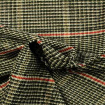 pantalon stof zwart/beige/rood ruit