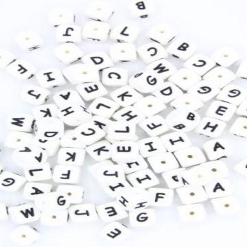 siliconen letter kralen a t/m z