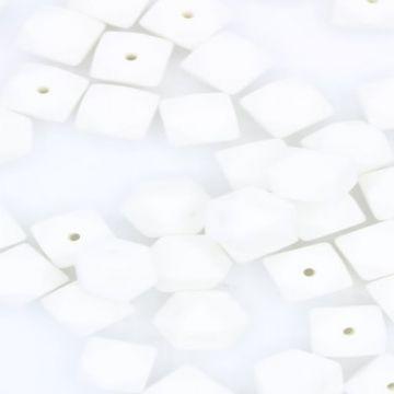 siliconen kraal wit hoekig