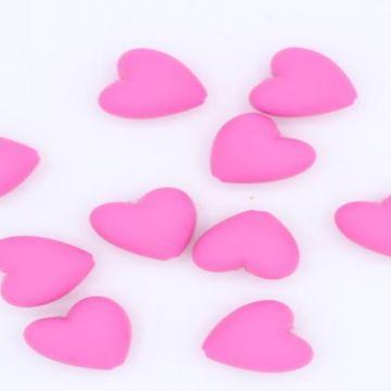 siliconen kraal fucshia hart