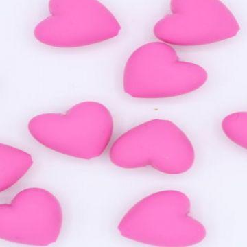 siliconen kraal fuchsia hart