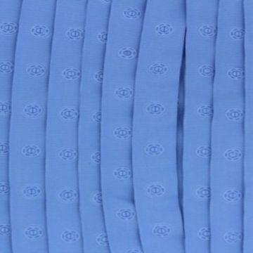licht blauw drukkertjesband