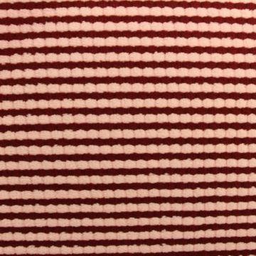 Terry Jersey - Bordeaux/Pink Stripes