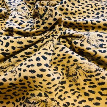 sweat jersey met een katten print