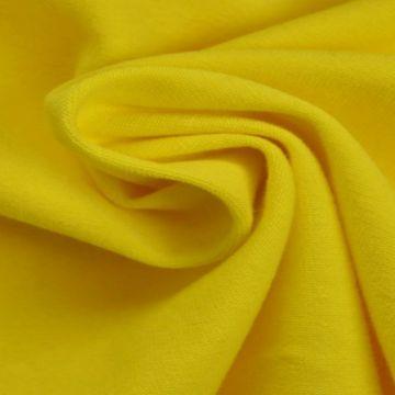katoenen tricot geel