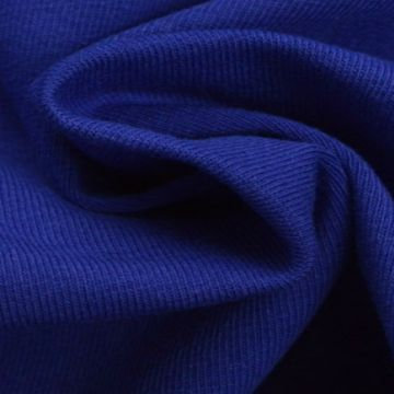 katoenen tricot jersey kobalt blauw